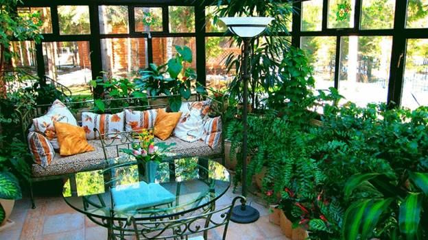 Оконные блоки с максимальной светопропускной способностью для освещения растений на балконе