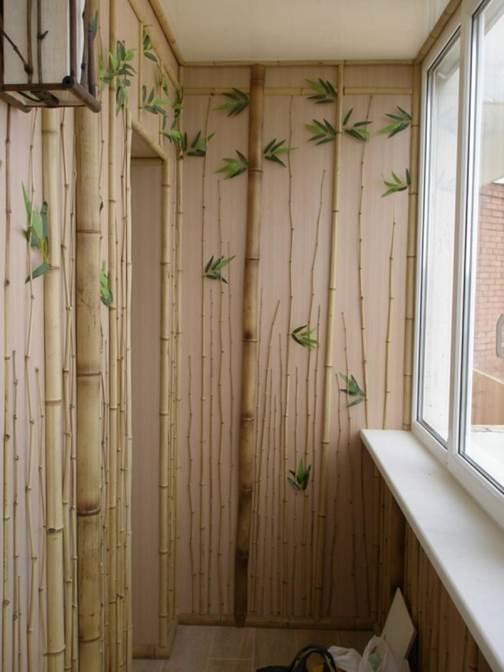 Оригинальный вариант отделки стен на лоджии