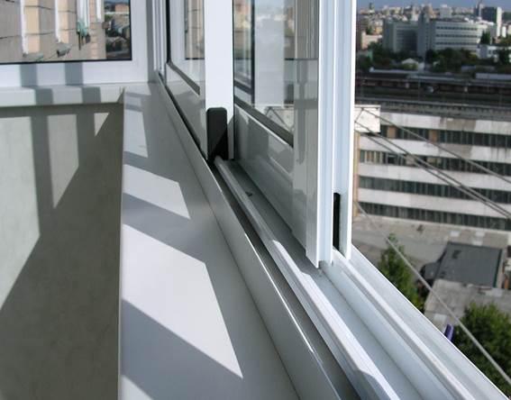 Раздвижные алюминиевые окна, чтобы застеклить лоджию