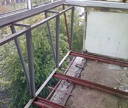 Ремонт парапета на балконе перед остеклением