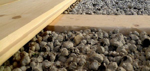 Вариант утепления пола на балконе керамзитом