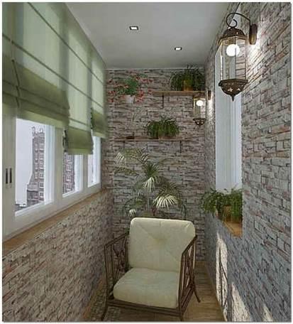 Внутренняя отделка балкона своими руками искусственным камнем