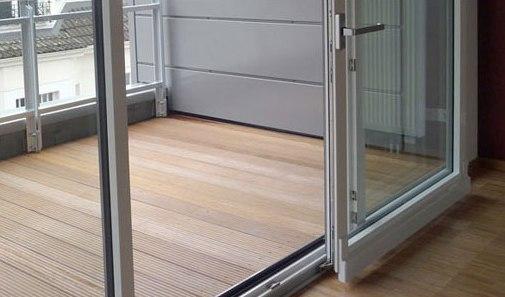 Раздвижные балконные створки на металлопластиковом профиле
