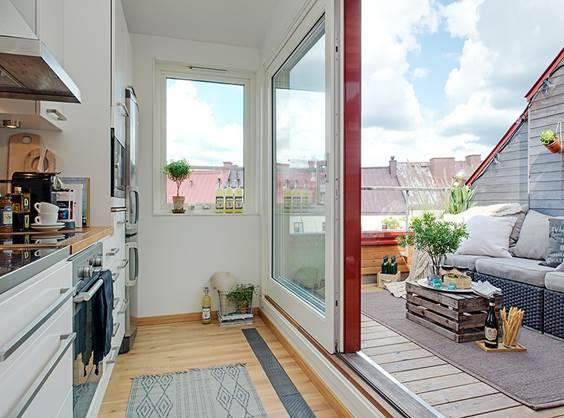 Балкон не отапливается и является внешней конструкцией