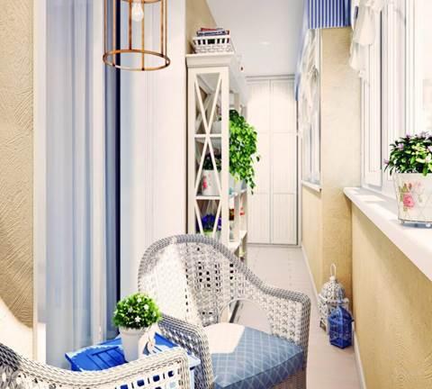 Балкон в средиземноморском стиле