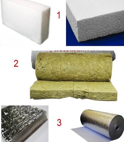 Основные теплоизоляционные материалы