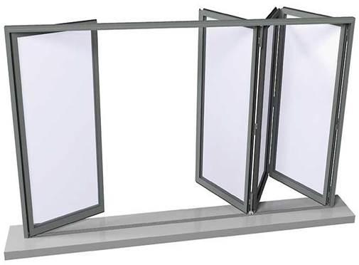 Остекление балконов алюминиевым профилем «гармошка»
