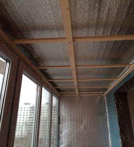 Утепление балкона пенофолом для потолка и стен