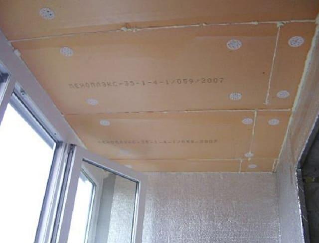 Крепление пенополистирола к потолоку