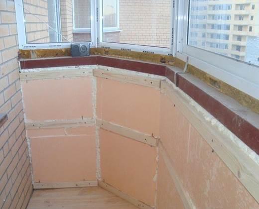 Утепления стен балкона в панельном доме
