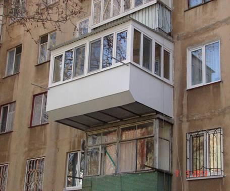 Увеличение балкона в хрущевке требующее разрешения