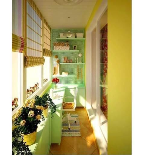 Вариант обустройства балкона и лоджии