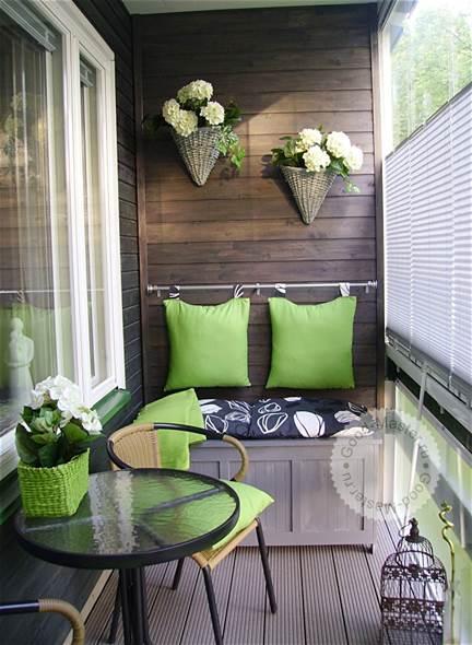 Вариант оформления лоджий и балконов