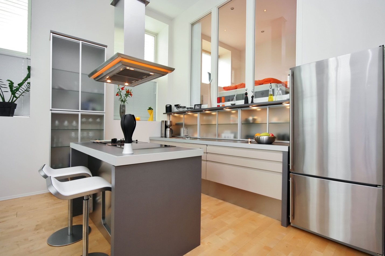 Дизайн кухни 11 кв. м. с островным способом размещения мебели