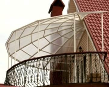 Купольный козырек на балкон