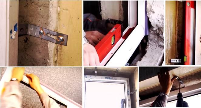 Монтаж балконного блока в проеме