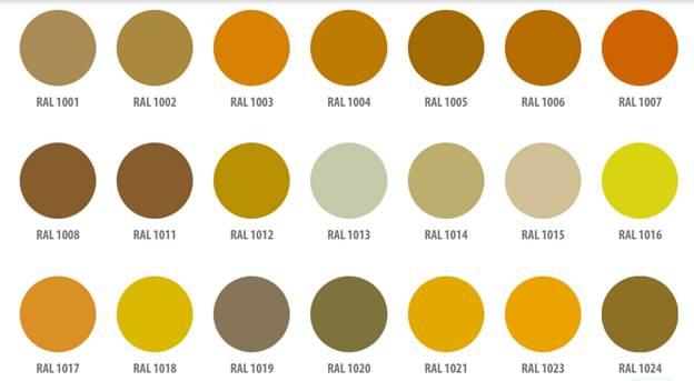 Популярные варианты окраски балконных рам Provedal по цветовой шкале RAL
