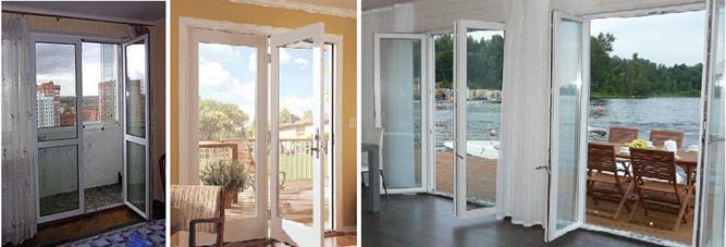 Разновидности балконных дверей