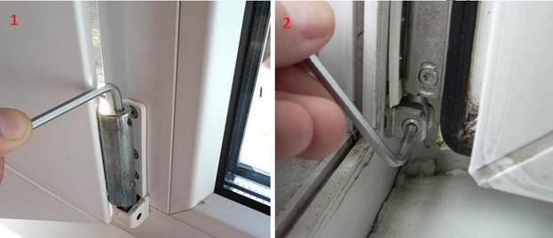 Регулировка балконных дверей ПВХ по вертикали, горизонтали