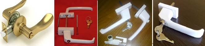 Типы дверных ручек на балконную дверь