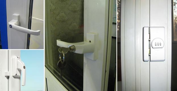 Замки на пластиковые балконные двери