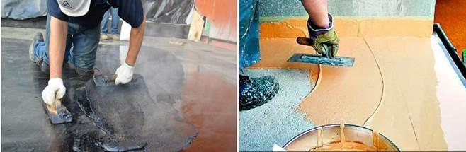Гидроизоляция бетонной поверхности мастикой и сухими смесями