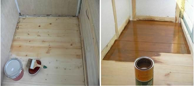 Гидроизоляция деревянного пола на даче лаком