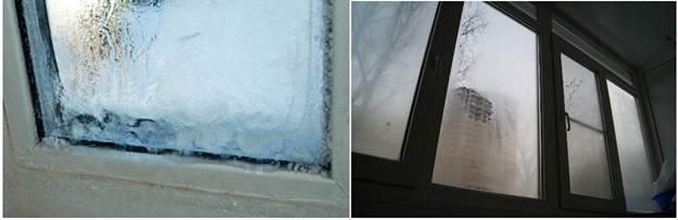 Конденсация влаги на балконном остеклении