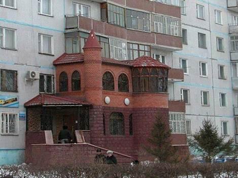 Остеклённый балкон после незаконного переустройства