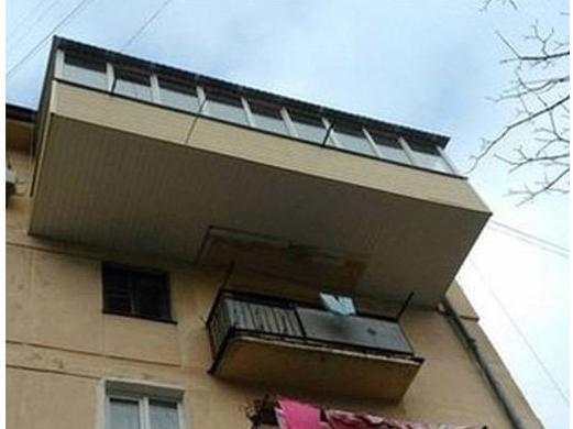 Перепланировка балкона с расширением площади