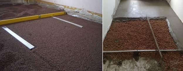 Подъем пола на балконе керамзитом