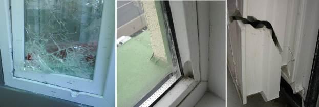 Повреждения балконного ПВХ профиля
