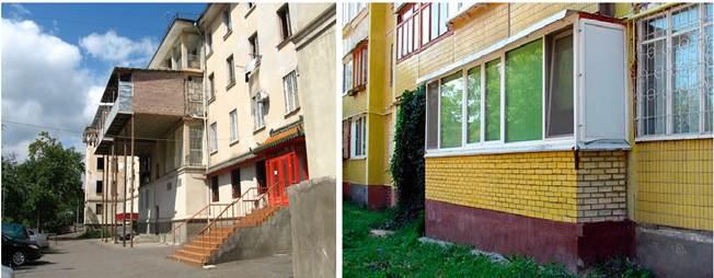 Расширение балконов без разрешения пристройками