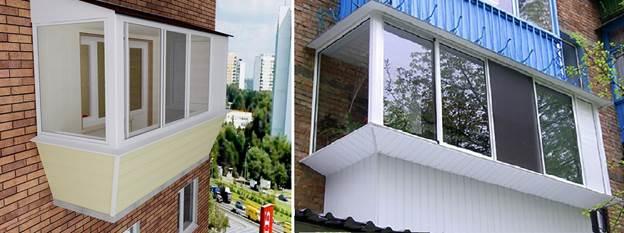 Рис. 8. Разрешенные работы на балконе, увеличивающие его площадь