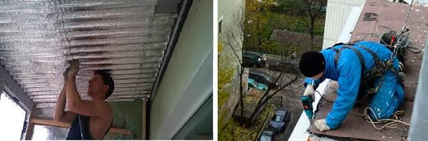 Рис.3 Шумоизоляция крыши балкона