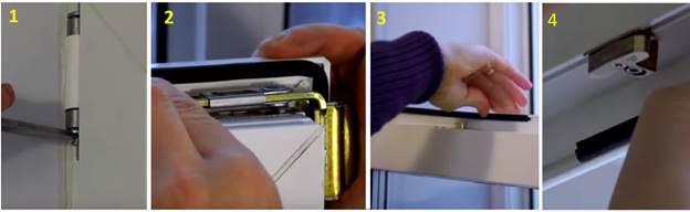 Установка уплотнителя в стеклопластиковые дверные створки