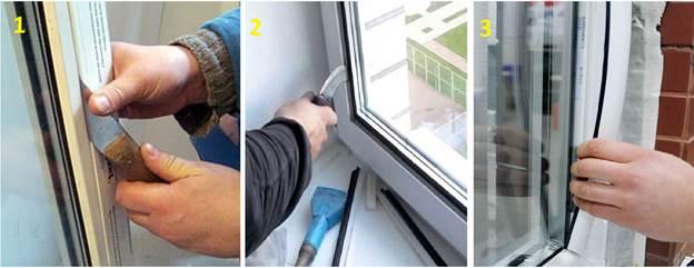 Замена стеклопакета для балконных пластиковых дверей