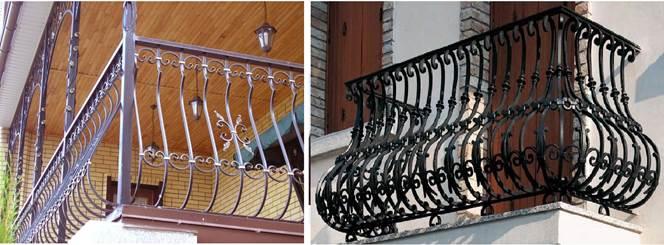 Балконные ограждения из кованой стали