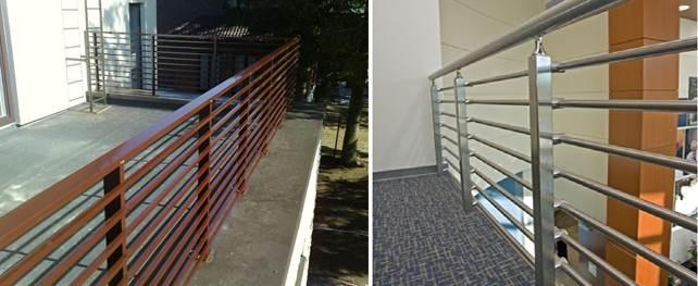 Балконные перила из металлического профиля - разновидности поручней