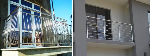 Металлические ограждения для балконов из никелированных и хромированных труб