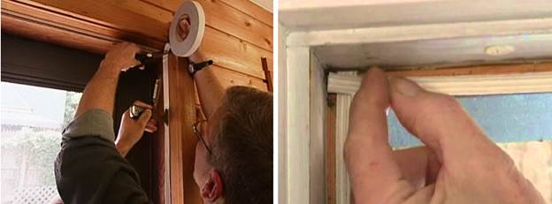 Монтаж уплотнителя для утепления балконной деревянной двери