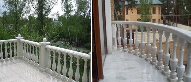 Ограждение для балконов и лоджий из камня