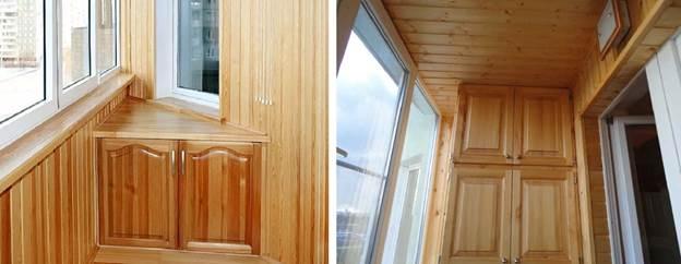 Отделка деревянного покрытия балкона лаком