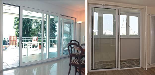 Раздвижные двери на балкон - внешний вид
