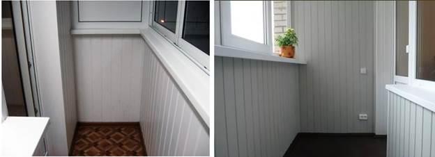 Вагонная доска балкона, покрашенная белым красителем