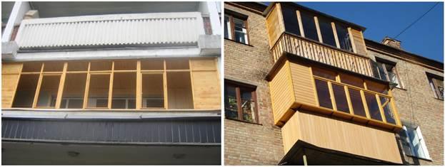 Деревянное остекление лоджии и балкона