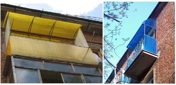 Облицовка балконного парапета поликарбонатом