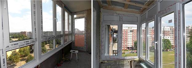 Остекление балконов пластиком ПВХ