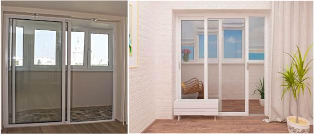 Подъемные раздвижные двери на балкон