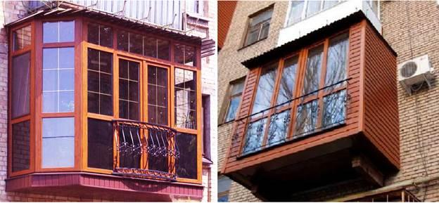 Сплошное (французское) остекление балкона с деревянным каркасом